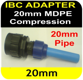 IBC ADAPTER to 20mm MDPE Compression Connector