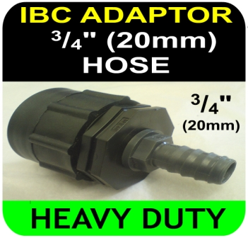 IBC ADAPTOR to 20mm Hose Tail HD Connector