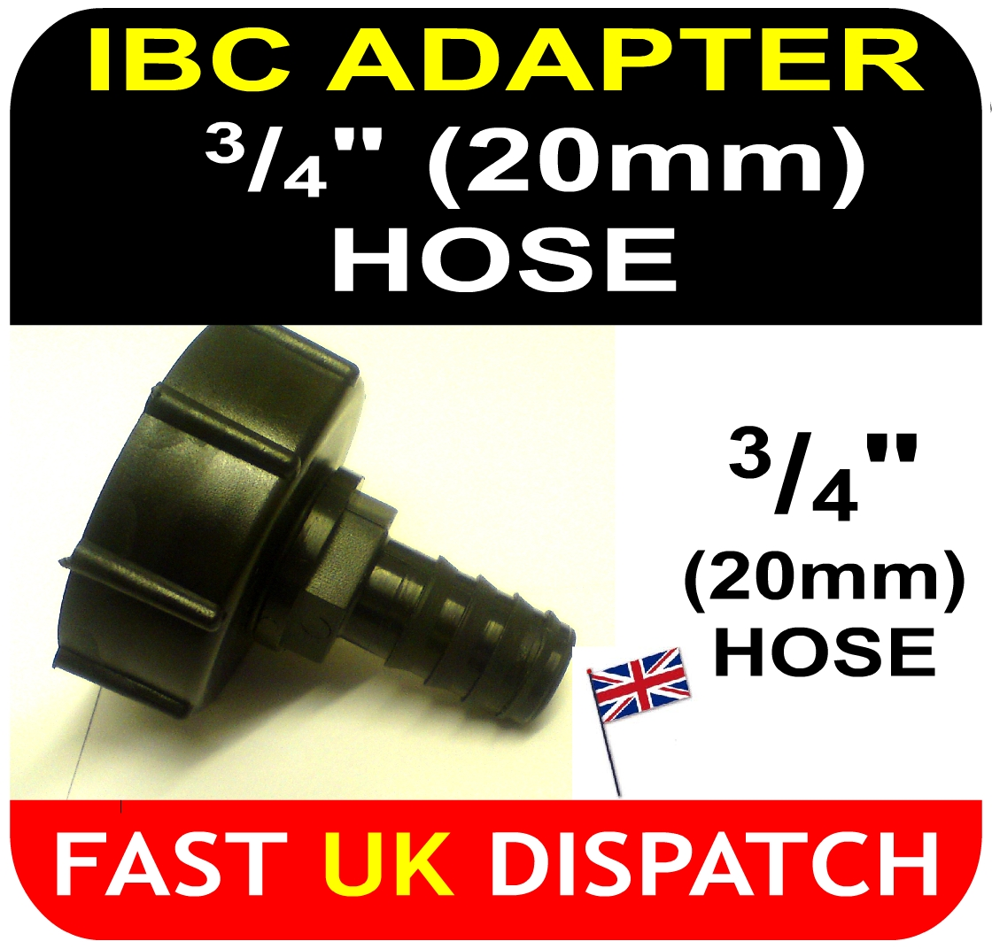 IBC ADAPTOR to 20mm Hose Tail Connector