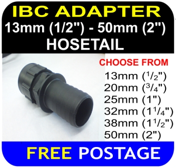 IBC ADAPTER to 38mm Hose Tail HD Connector