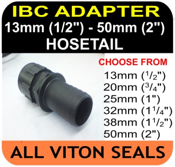 IBC ADAPTOR to 50mm Hose Tail HD Connector