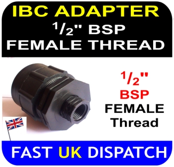 IBC Adapter to half inch BSP Female thread