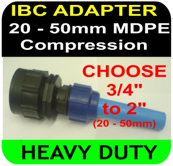 IBC ADAPTER BSP Compression MDPE Mixture