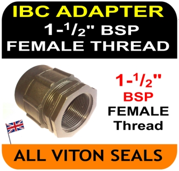 "IBC ADAPTOR to Double Equal 1 and 1/2"" inch BSP FEMALE thread"