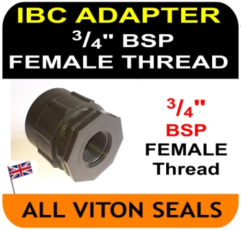 IBC ADAPTER to Double Equal 0.75 three quarter 3/4 inch BSP FEMALE thread