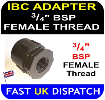 IBC ADAPTOR to 0.75 three quarter 3/4 inch BSP FEMALE thread