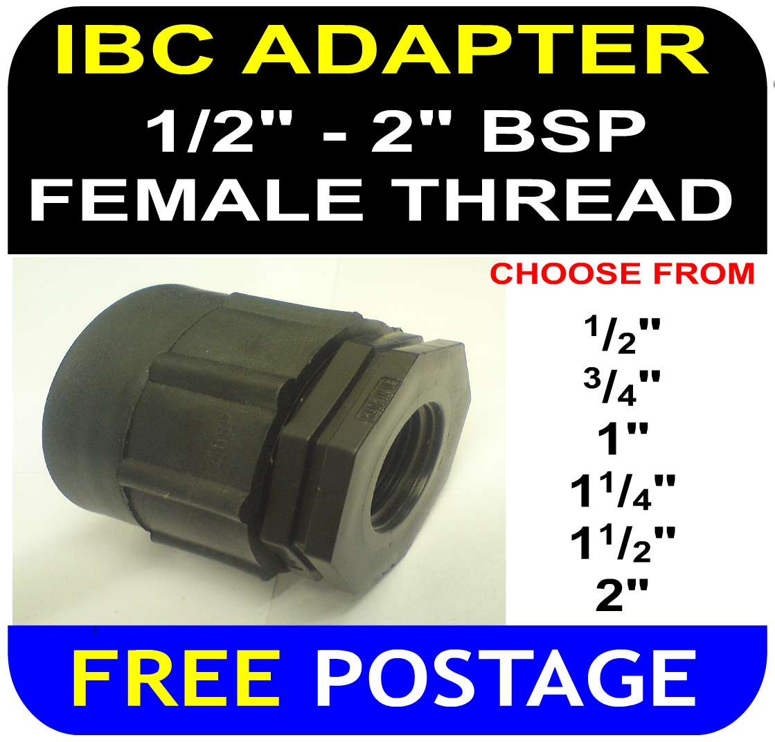 "IBC ADAPTER to Double Equal 2"" two inch BSP FEMALE thread"