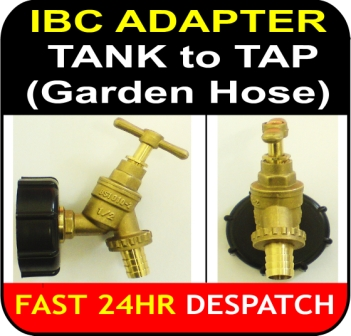 IBC ADAPTER to TAP 13mm Garden Hose Tail Connector